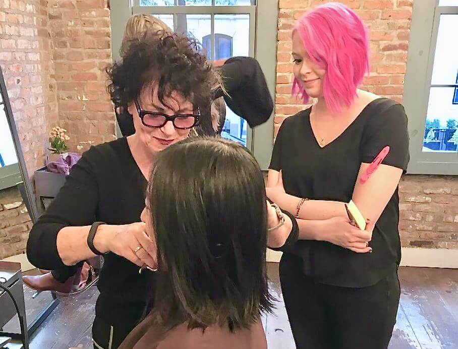 Laara-Raynier-Hands-on-haircut-with-stylist-Bob-Haircutting-workshop
